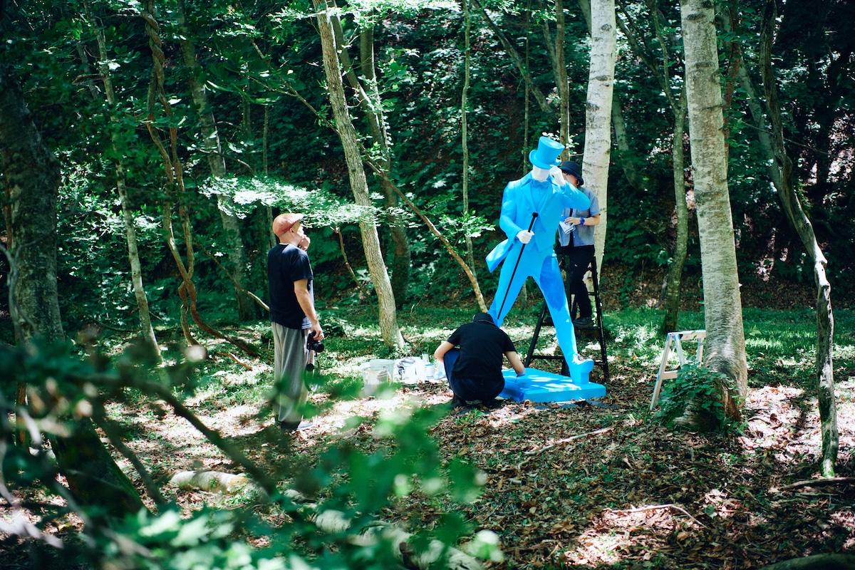 "06-9 JOHNNIE WALKER初参戦!フジロックだけで飲めるジョニーハイボール 「""FUJI ROCK""スタイル」&フジロックの森でペイントしたストライディングマンとは!?"